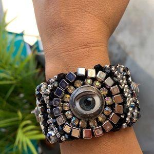 Handmade adjustable eye bracelet exclusive art